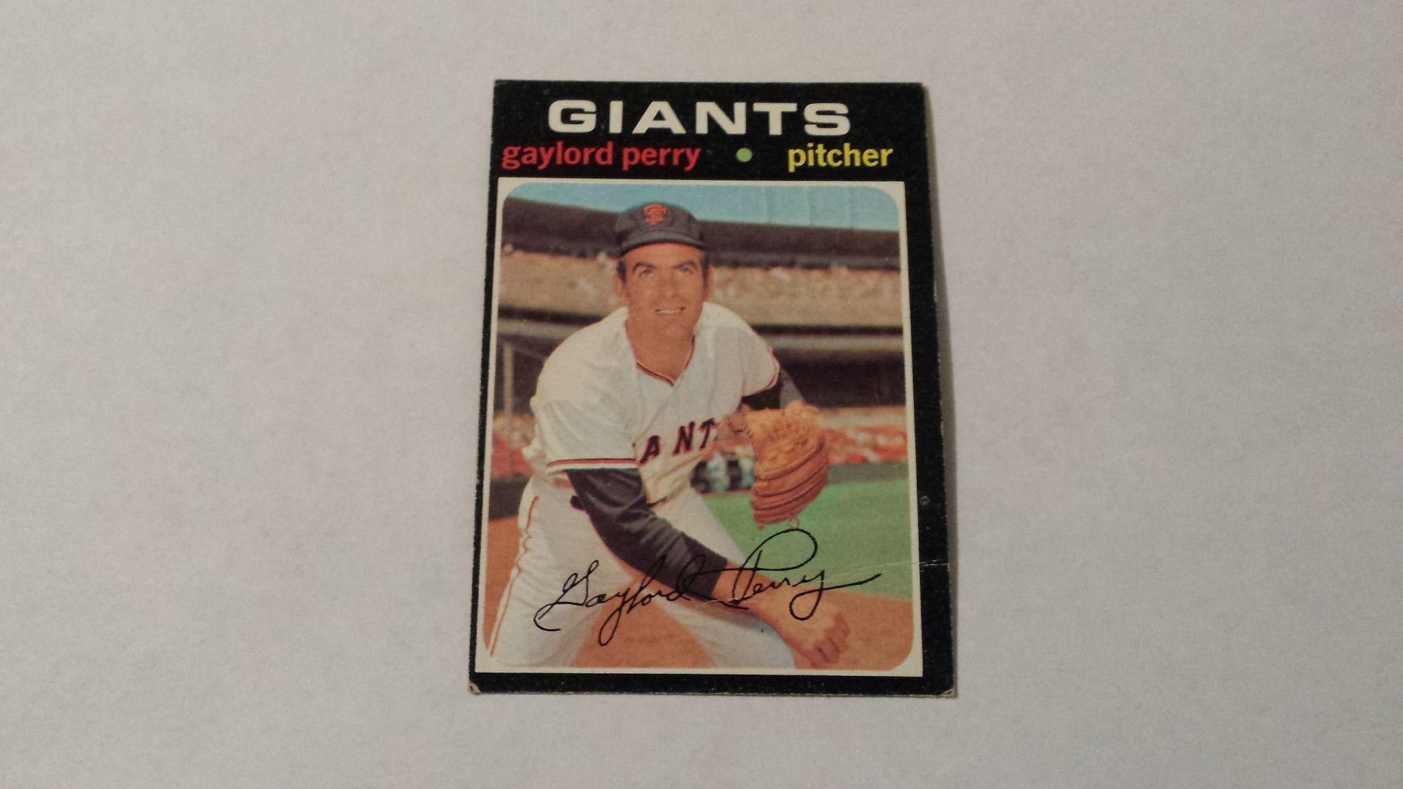 1971 Topps Gaylord Perry Single Baseball Card Products Baseball