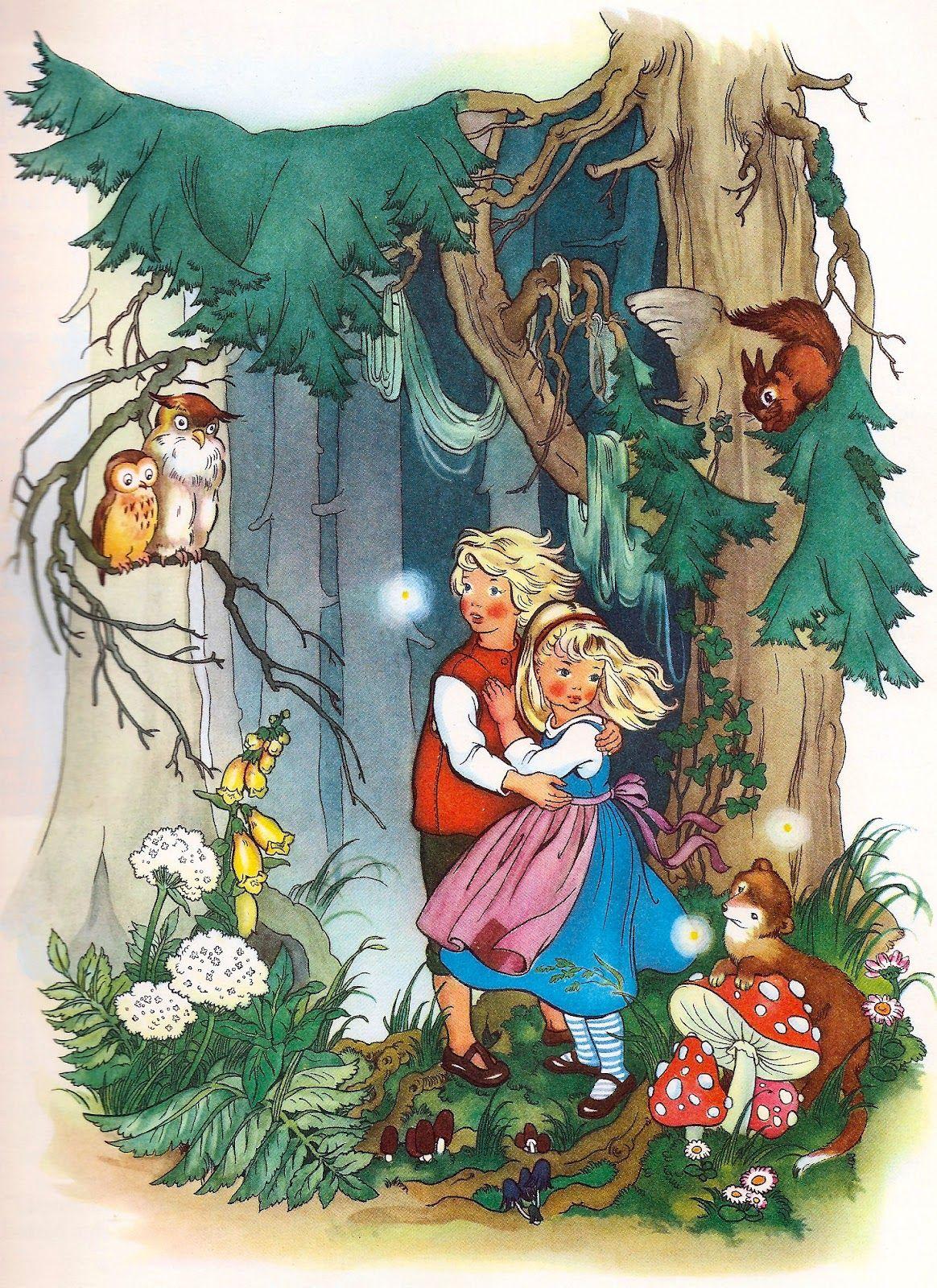 hansel and gretel  illustration märchen kunst