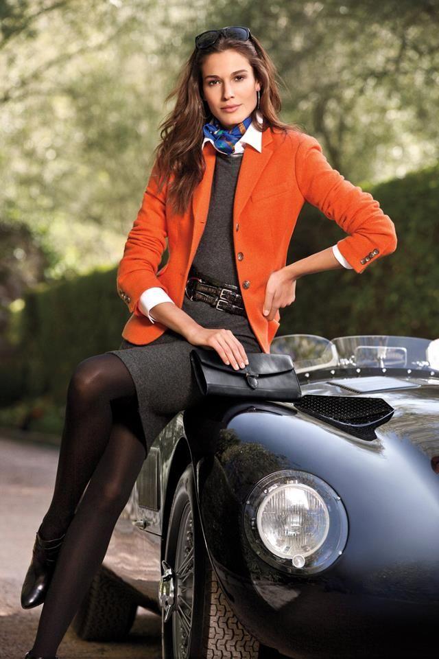 Ralph Lauren 2013 - Dark grey and orange is perfext for Autumn
