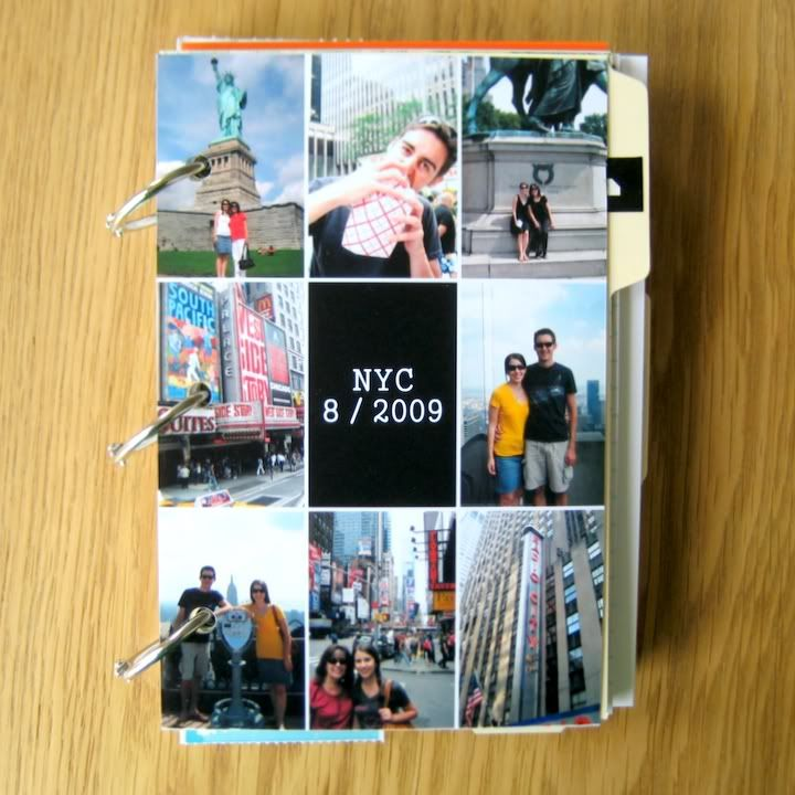 DIY: scrapbook alternative.  Great for documenting trips!