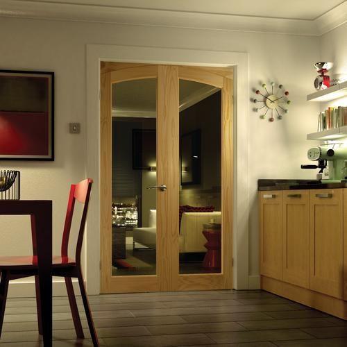Wickes Newland Internal French Doors Glazed 2 Lite 2007 X 1218mm