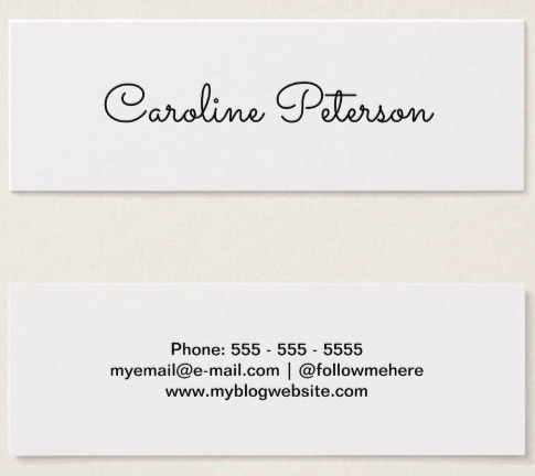 Elegant Minimalist White Mini Business Card Business Cards - Mini business card template