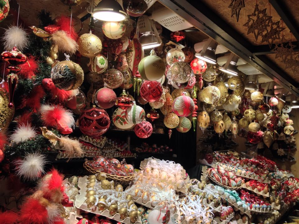 One of many beautiful ornament booths at the Salzburg ...