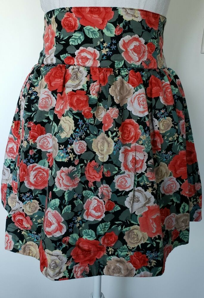 58c345459dd Women's H&M Divided Floral Print Peplum Skirt Size 4 #fashion #clothing  #