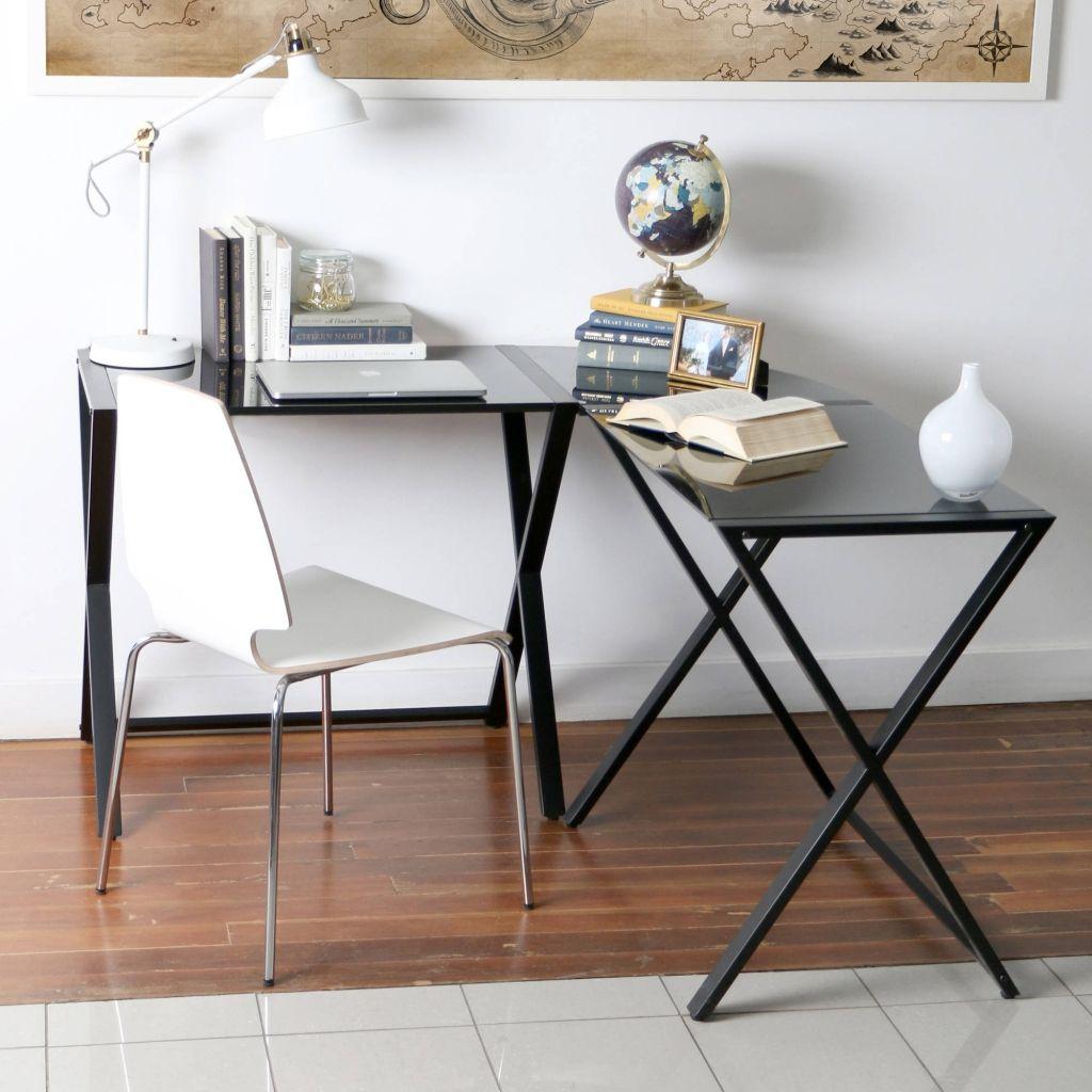 Wundervoll Glas Metall Eck Computer Schreibtisch, Home Office Möbel Schreibtisch Eine Der  Besten Alternativen Für Glas