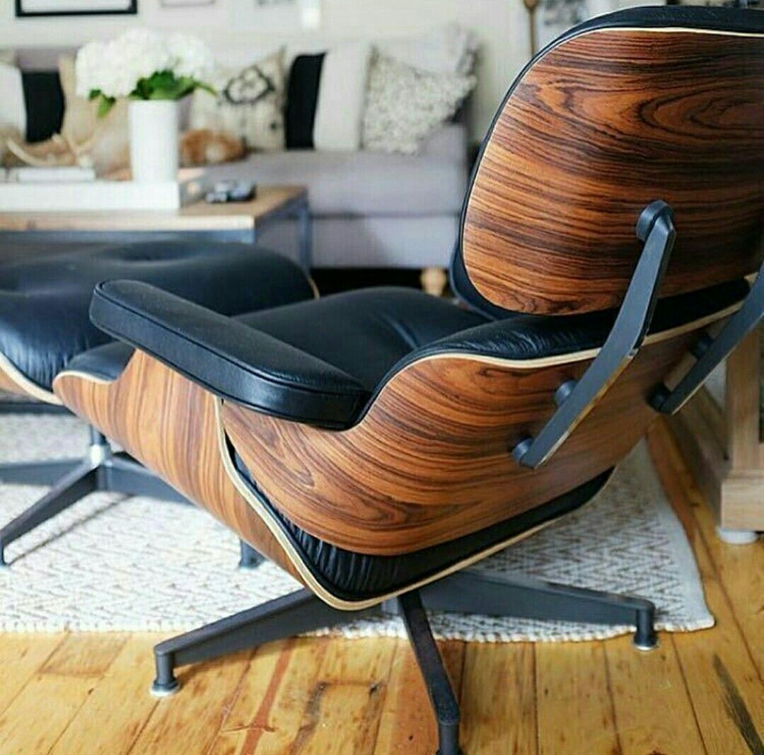 Vitra Lounge Chair Replica classic lounge chair & ottoman black in 2020 (with images