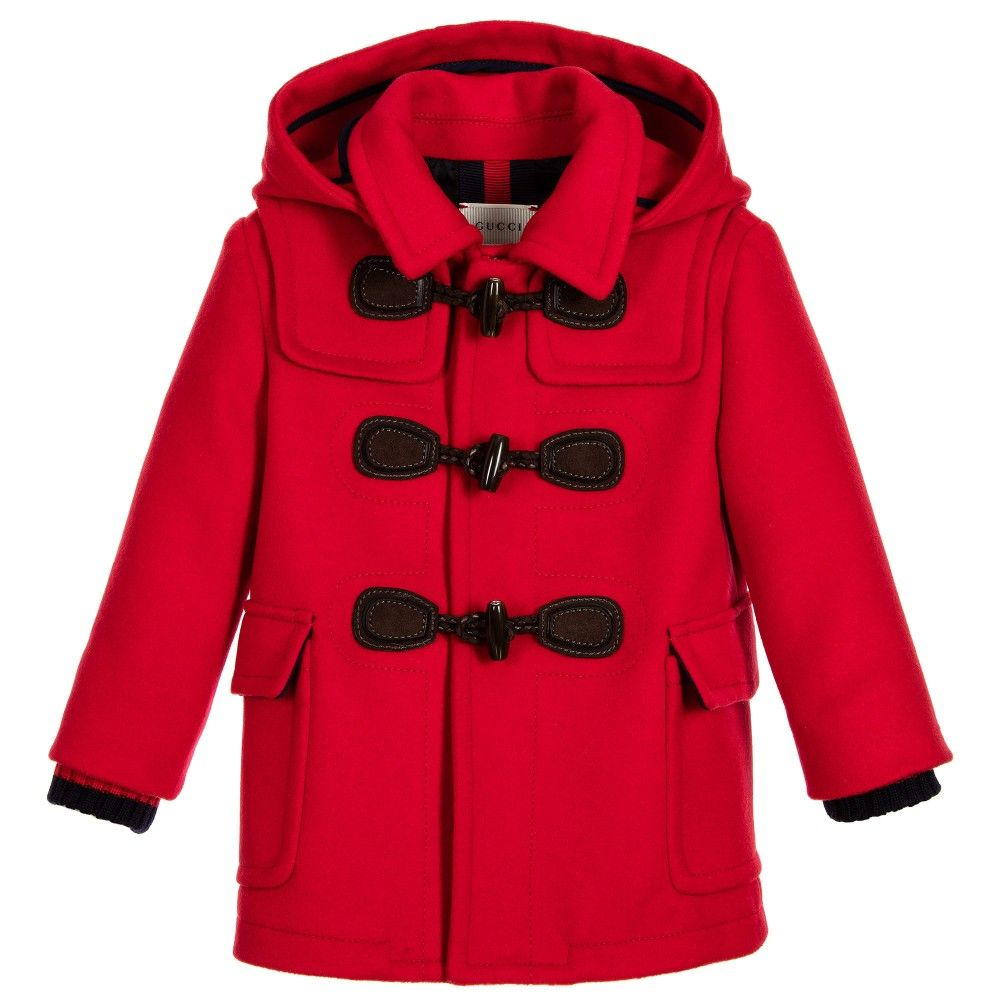 Red Duffle Coat Kids