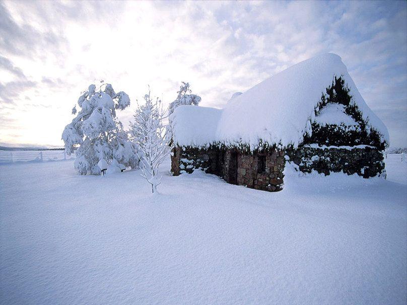 Antigua casa en nieve caba a de invierno wallpaper la nieve en la naturaleza nieve - Cabana invierno ...