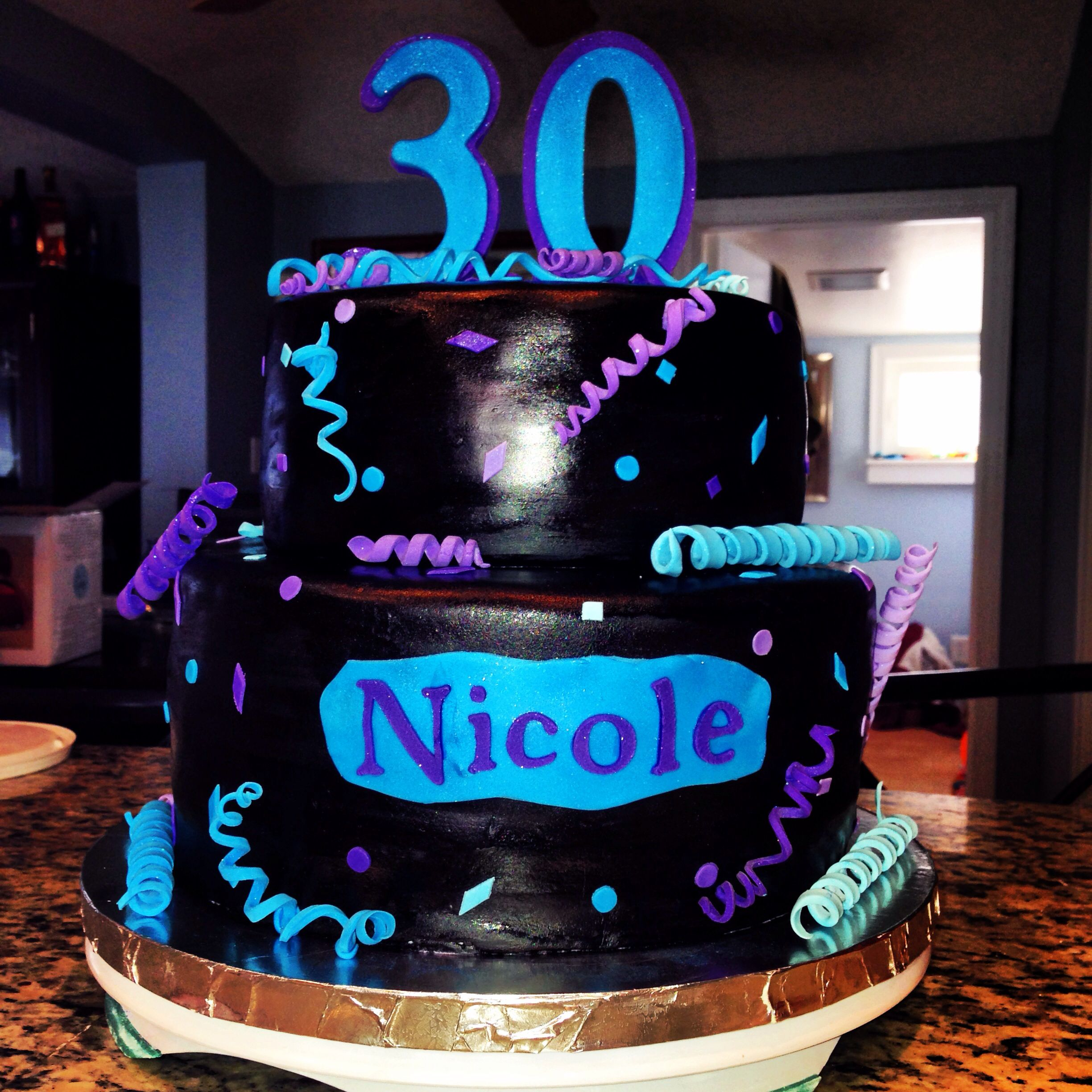 Cake Decorating Ideas For 30th Birthday : 30th birthday cake Cake Decorating Ideas Pinterest