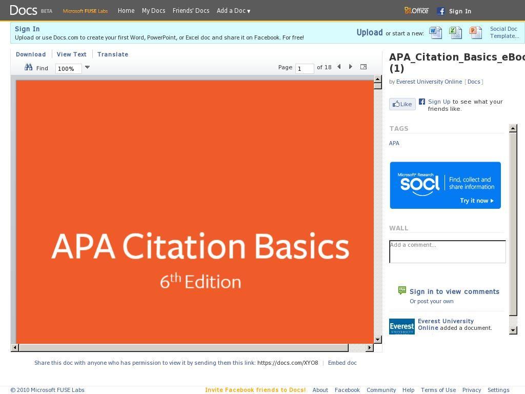 Apa Citation Basic Via Easybib Psychology Degree Technical Documentation Essay Purdue Owl Bibliography Generator