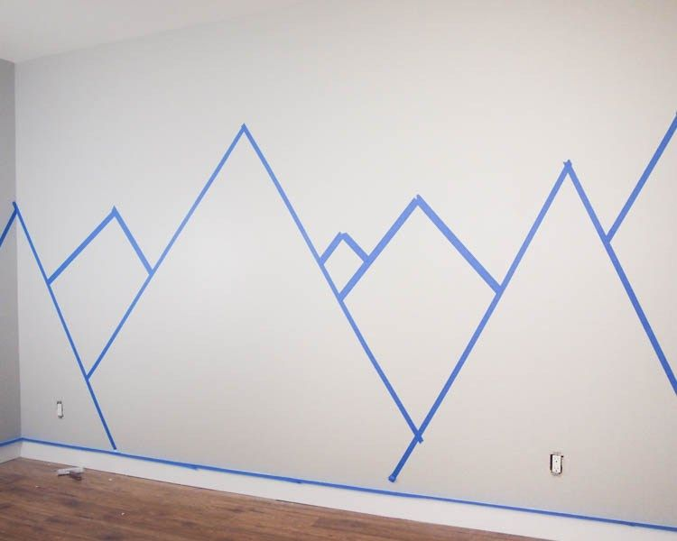 DIY Nursery Mountain Mural - Hello YELLOW