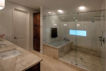 Wet Room Design Steam Shower And Soaking Tub All Contained