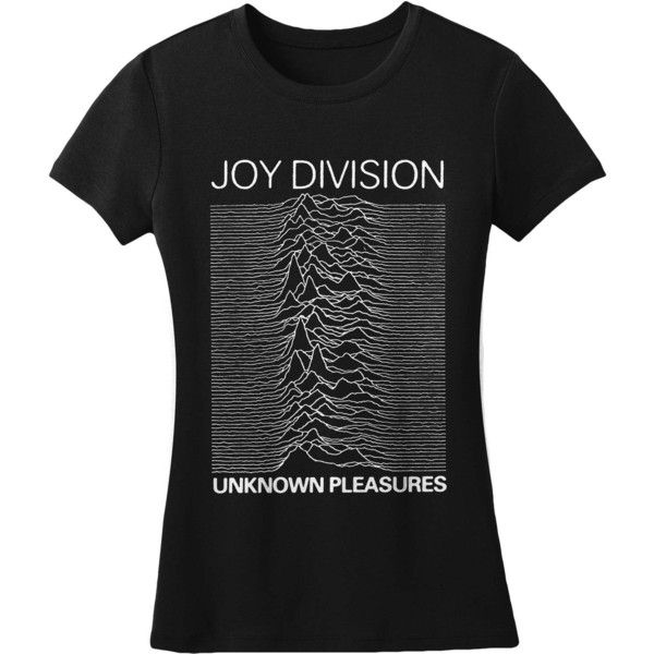 Joy Division Womens Unknown Pleasures T-Shirt ($17) ❤ liked on Polyvore featuring tops and t-shirts
