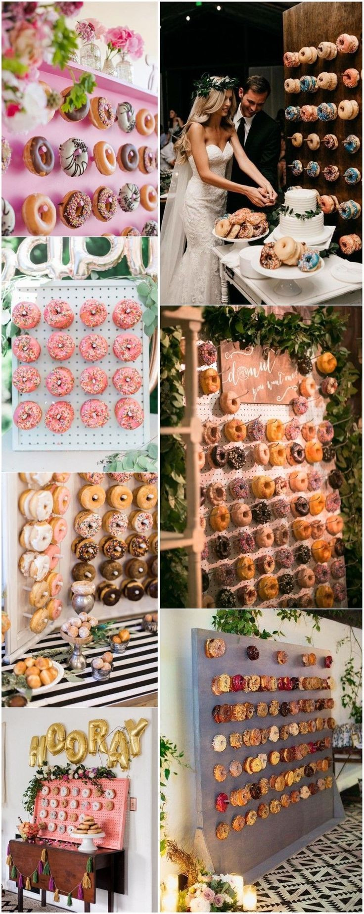 Latest Catering Trend of 2018-- Mouth-watering Donut Wedding Walls - Verlobung Deko -