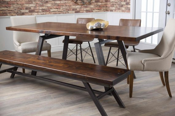 Fulton Modern Industrial Dining Table Products In 2019