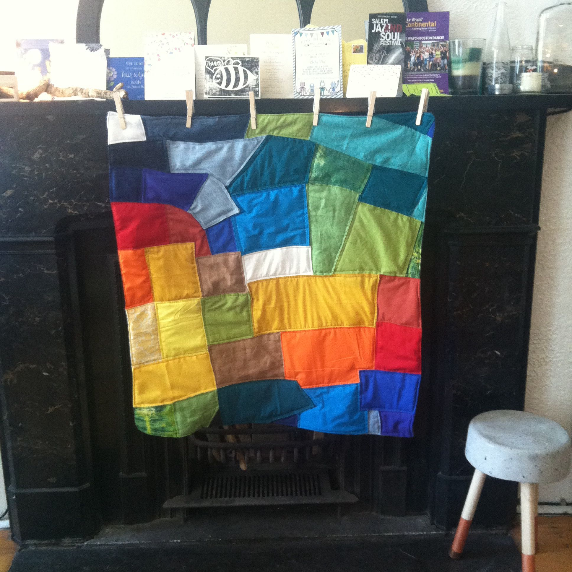Rainbow quilt for Baby B