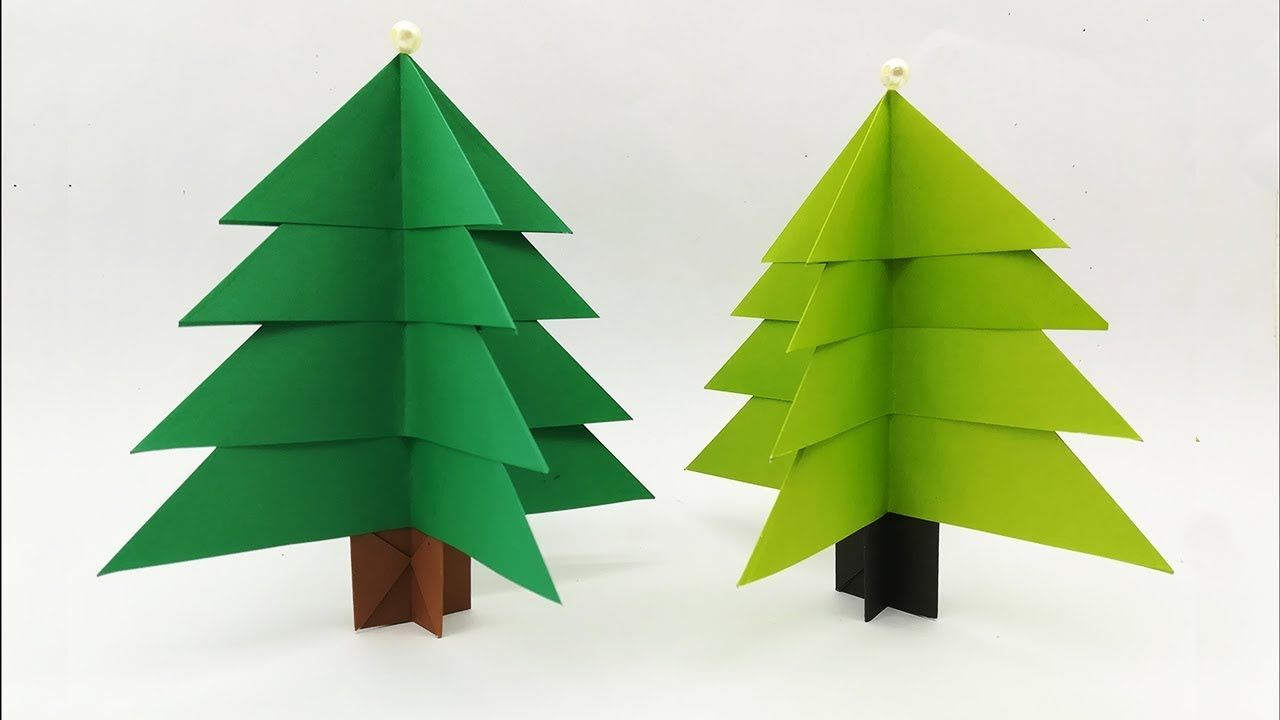 How To Make Easy 3d Paper Xmas Tree Amazing Decoration Lots Of