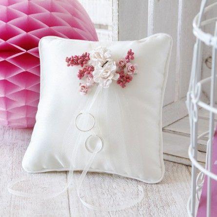 Ringkissen Blüten rosé