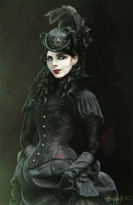 Beautiful Victorian Goths and Victorian Goth Fashion.