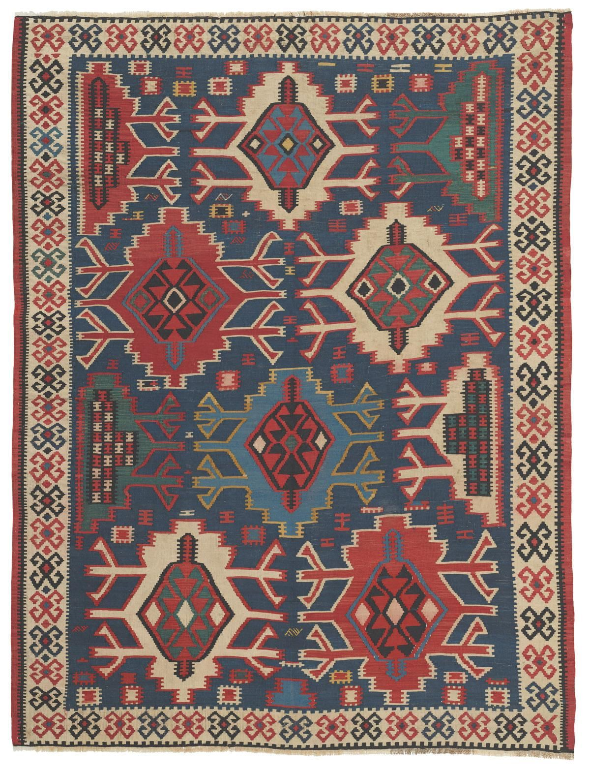 Caucasian Kuba Kilim 4ft 10in X 6ft 5in Circa 1850 This Is A Tremendously Energetic Consummately Crafted Antique C Rugs Oriental Rug Patterns Antique Rugs