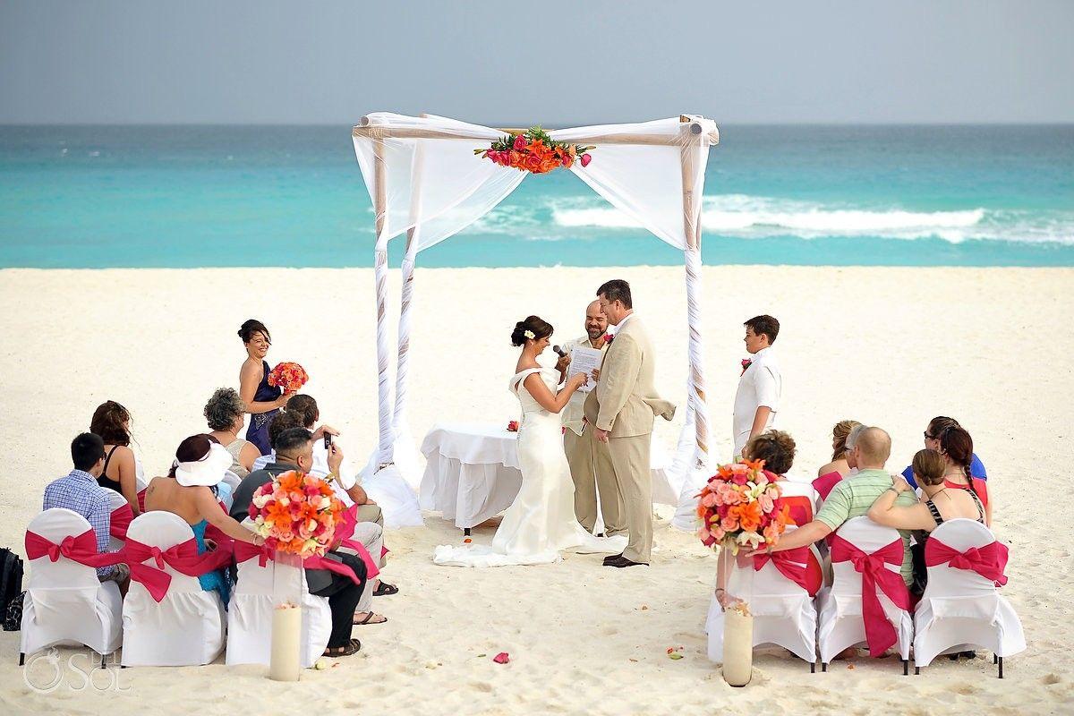 Beach Wedding At Iberostar Cancun