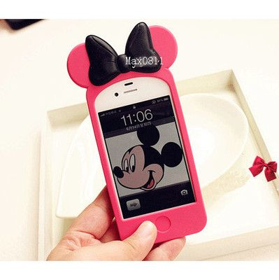 online store 73325 a737c 3D Disney Mickey Minnie Mouse Ear Hello Kitty Case Back Cover for I ...