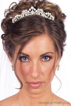Messy Updo With A Tiara