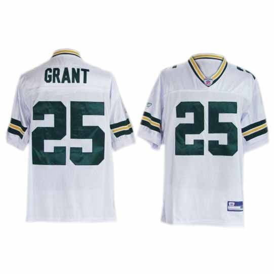 Ryan Grant Jersey, Premier #25 Green Bay Packers Authentic Jersey in White   Price:$20ID:3338