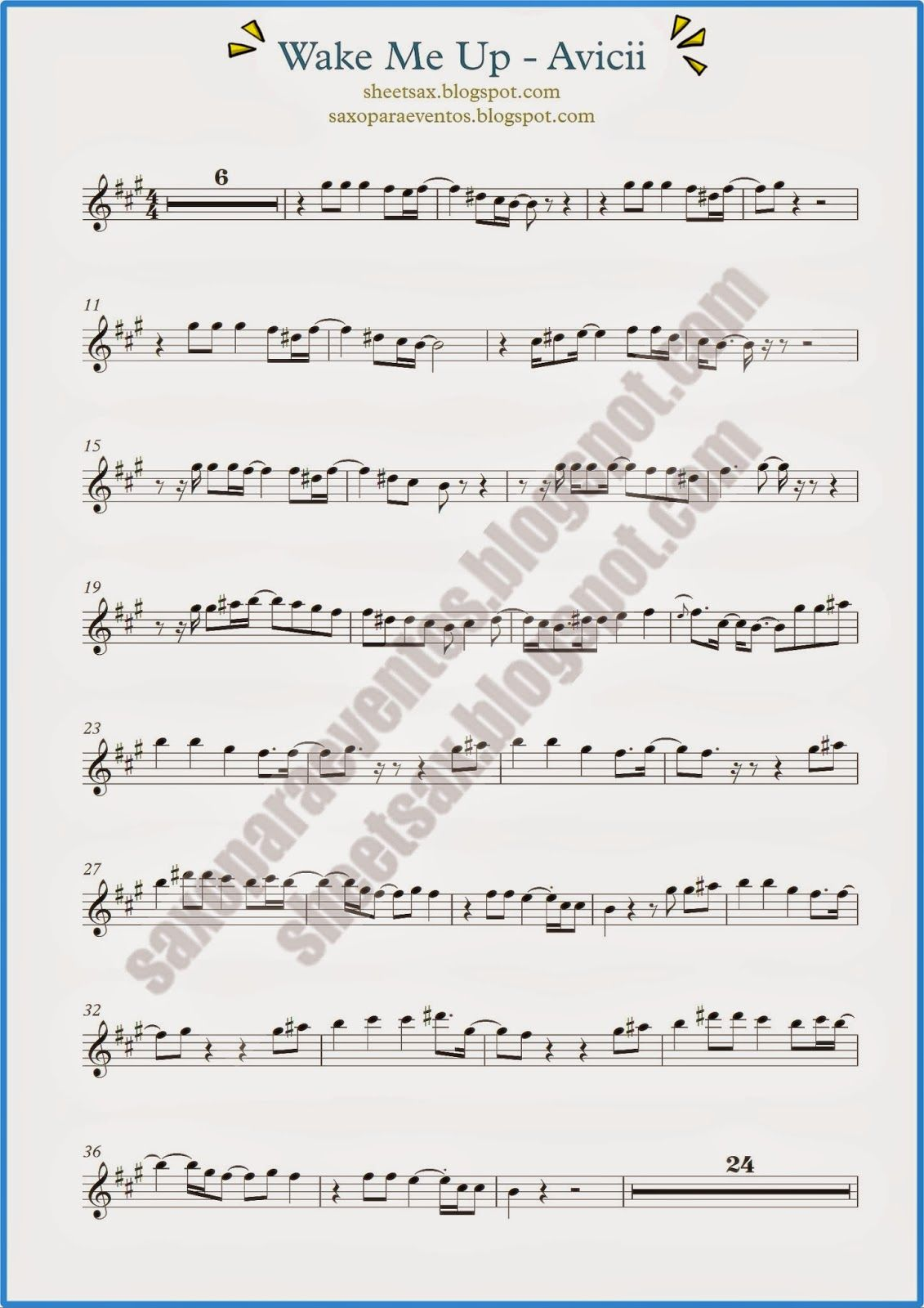 Wake Me Up by Avicii (Sheet music and playalong for your ...
