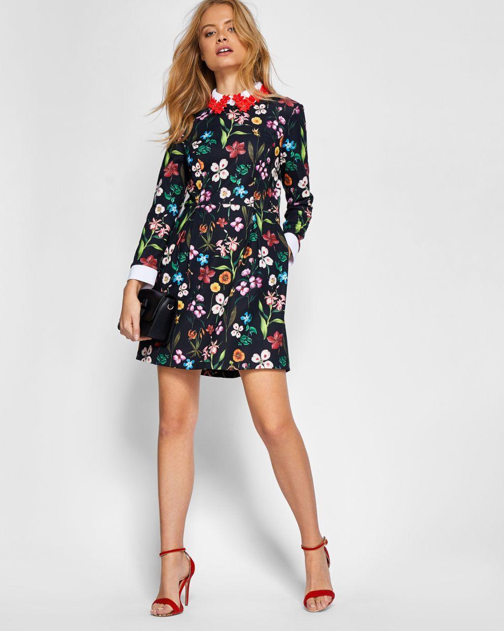 8e766213fc Hampton Court appliqued collar dress - Black