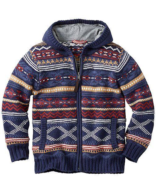 Fair Isle Sweater Hoodie from #HannaAndersson. | HA + BOYS ...