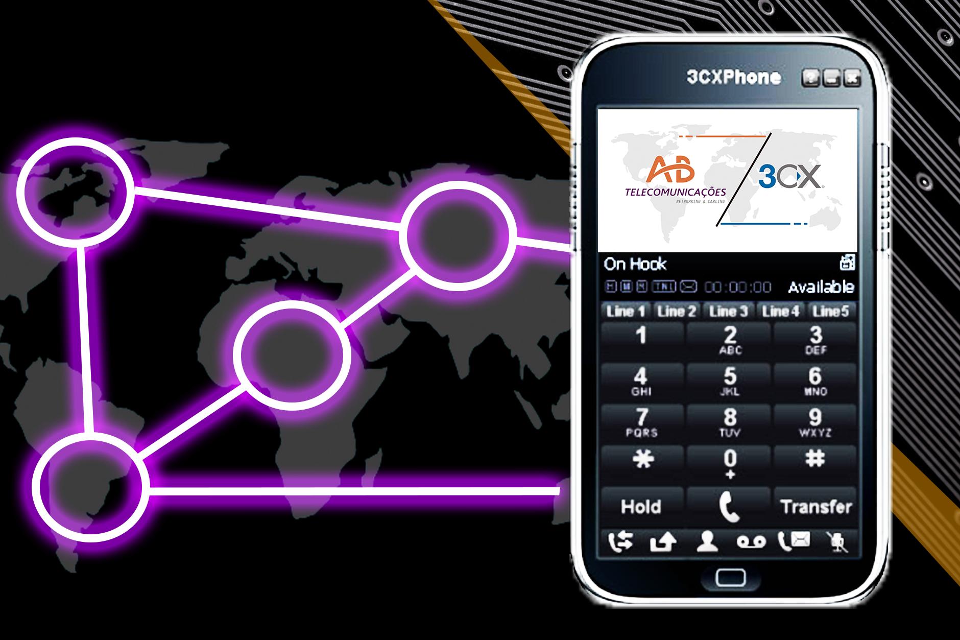 O softphone 3CX para Windows é um softphone gratuito desenvolvido