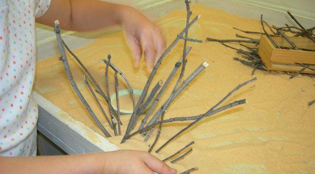 Zen Classroom Decor ~ A classroom zen garden with twigs to arrange in the sand