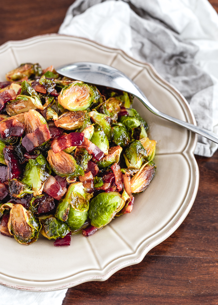 Oven Roasted Brown Sugar Bacon Brussels Sprouts Recipe