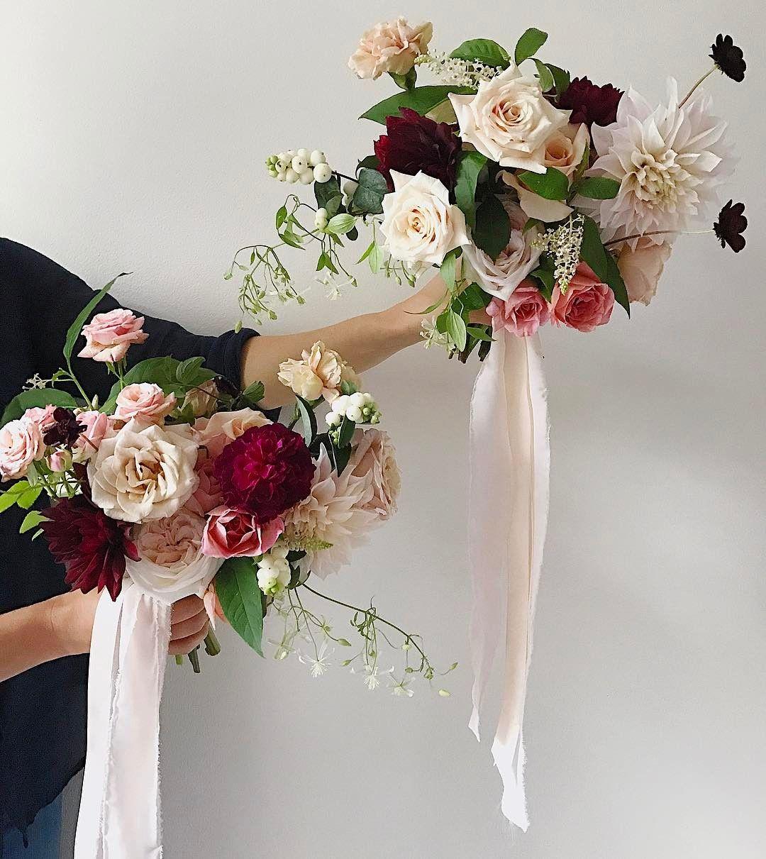 Blush and burgundy bouquets f l o r a l pinterest burgundy