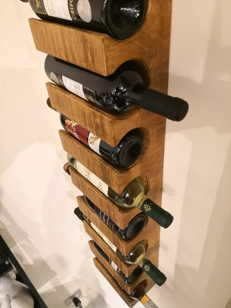 homemade wall mounted wine rack