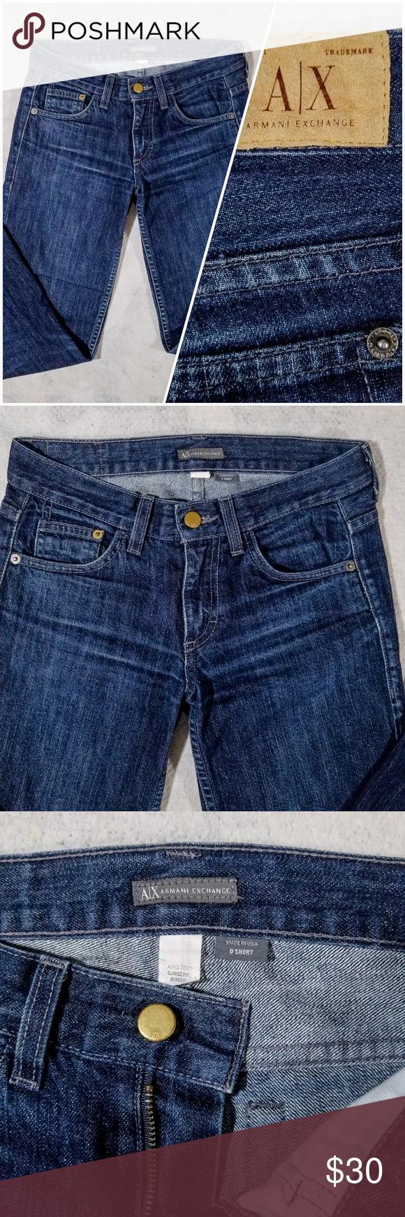 ff1db4660d7 Armani Exchange AX Dark Blue Denim Jeans