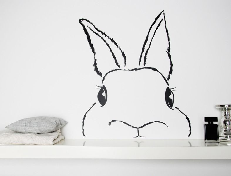 wandtattoo hase wall sticker bunny via. Black Bedroom Furniture Sets. Home Design Ideas