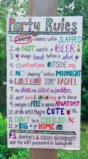 Partyregeln