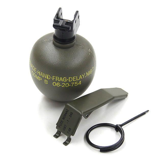 M67 Frag Grenade Plastic Dummy [TMC0599] - $18 00 : Airsoft