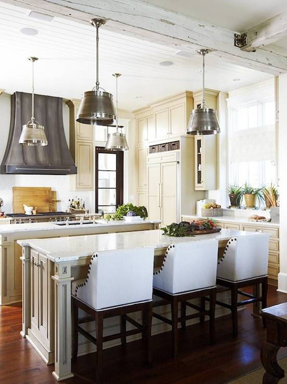 French Kitchen Design With Industrial Kitchen Pendants And Interesting French Kitchen Design Decorating Inspiration