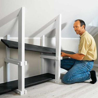 kniestockregal otthoni tletek pinterest dachboden dachschr ge und dachgeschosse. Black Bedroom Furniture Sets. Home Design Ideas