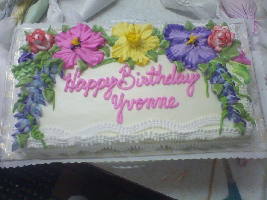 Happy Birthday Yvonne Birthday Cakes Birthday Happy