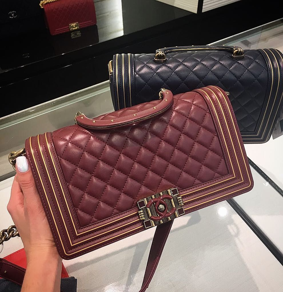7c24fd0c53d9 Let's talk about the Pre-Fall 2017 Collection because there are still so  many untold stories. The latest Chanel Boy Studded Handle Bag for example,  ...