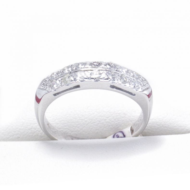 Vintage White Gold Half Eternity Anniversary Or Wedding Ring Wedding Rings Wedding Rings Vintage Vintage Engagement Rings