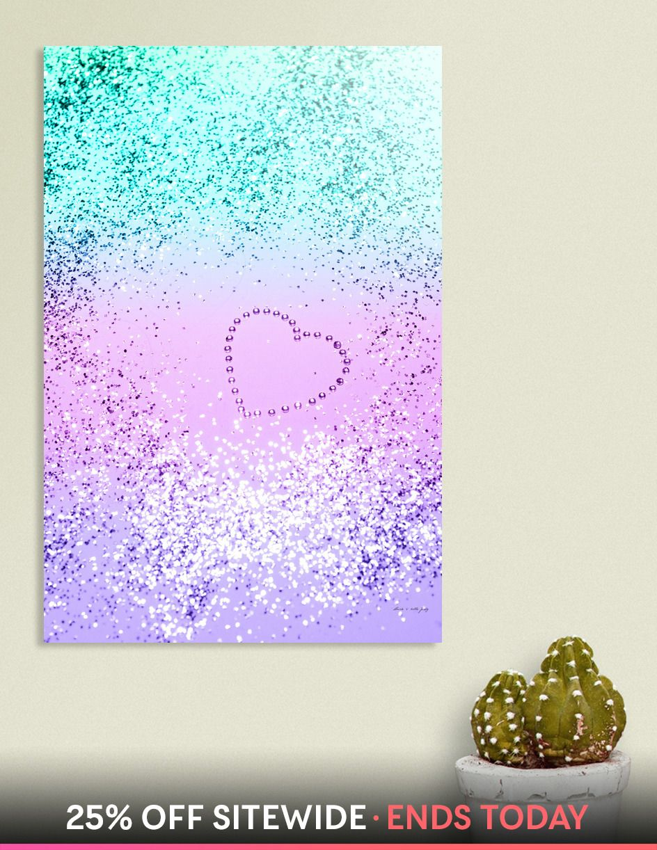 e436cdb5b Sparkling UNICORN Girls Glitter Heart #9 #shiny #pastel» Aluminum ...