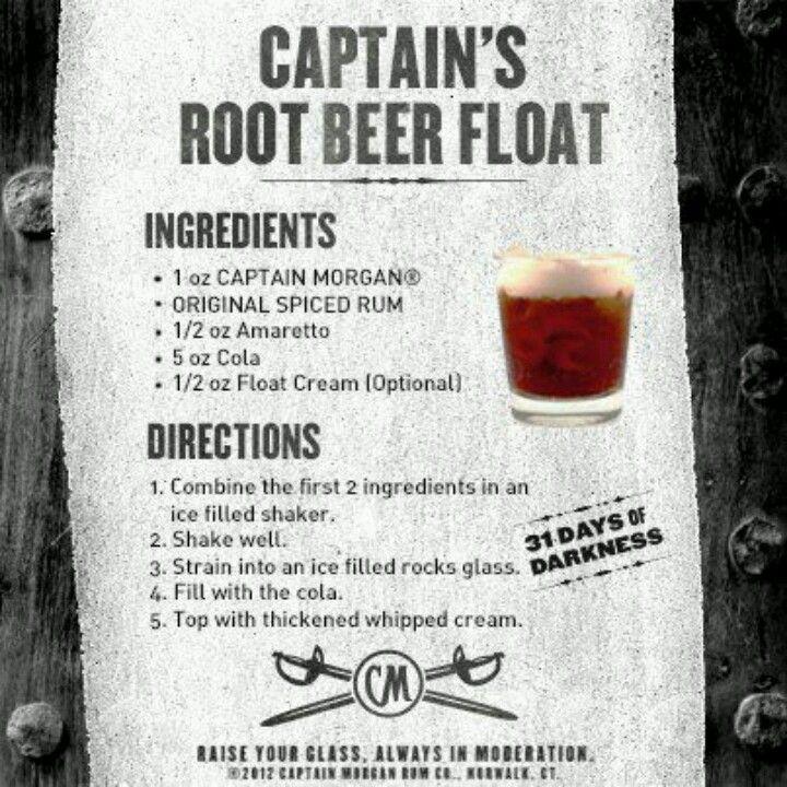 Captain Morgan Root Beer Float Great Drink Tastes Just Like A Root Beer Float Root Beer Float Smoothie Drinks Spiced Rum