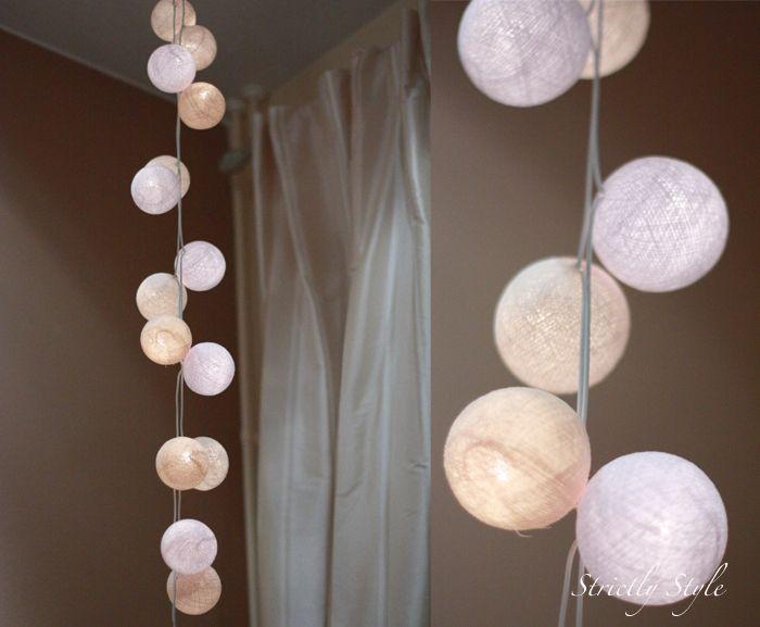 la case de cousin paul guirlandes lumineuses composer home pinterest cotton ball lights. Black Bedroom Furniture Sets. Home Design Ideas