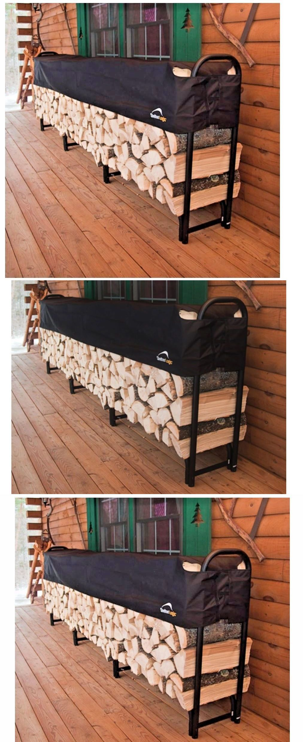 fire pits and chimineas 85916 firewood rack with cover indoor