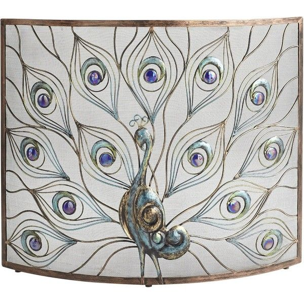 Pier 1 Imports Peacock Fireplace Screen featuring polyvore, home, home decor, fireplace accessories, peacock, decor, accessories, fireplace, fireplace screen, black, black home decor, peacock fireplace screen, peacock fire screen, handmade home decor and fire-place screen